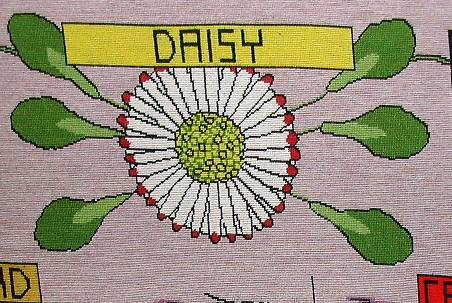 tapestry photo 1583 daisy flower