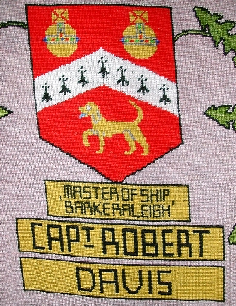 tapestry photo 1583 captain robert davis shield