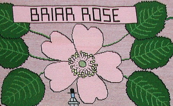 tapestry photo 1588-90 Briar Rose flower