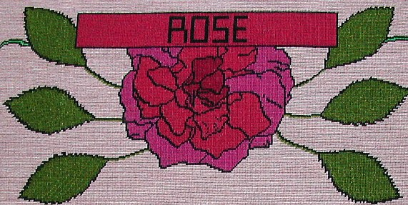 tapestry photo 1609-10 Rose flower
