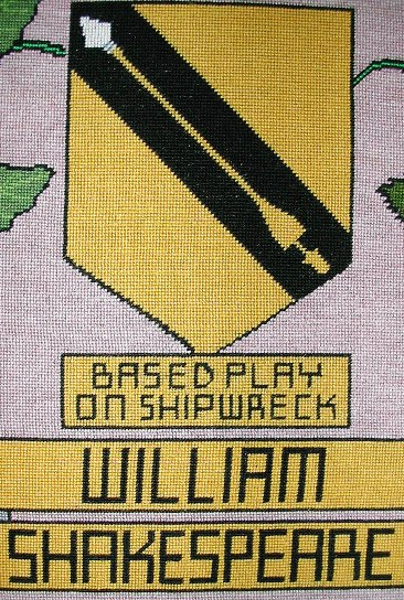 tapestry photo 1609-10 william shakespeare shield